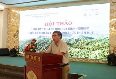 Hội thảo tổng kết, đúc rút kinh nghiệm thực hiện Dự án sẵn sàng  thực hiện REDD+ ở Việt Nam tỉnh Thừa Thiên Huế