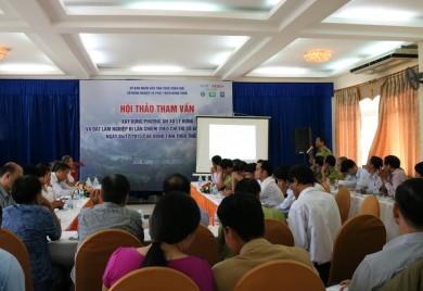 """Hội thảo tham vấn về """"Xây dựng Phương án xử lý diện tích rừng và đất lâm nghiệp bị lấn chiếm theo Chỉ thị số 65/2015/CT-UBND ngày 04/12/2015 của UBND tỉnh Thừa Thiên Huế"""""""