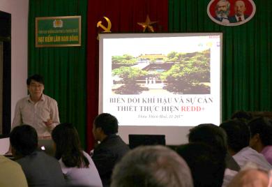 Hội thảo truyền thông về REDD+ cho các đối tượng, cộng đồng trong vùng giảm phát thải Tỉnh Thừa Thiên Huế tại huyện Nam Đông