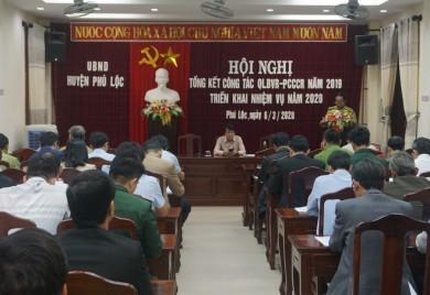 Ủy ban nhân dân huyện Phú Lộc tổ chức Hội nghị tổng kết công tác quản lý, bảo vệ - phòng cháy, chữa cháy rừng và phát triển rừng năm 2019, triển khai nhiệm vụ 2020